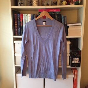 J. Crew Periwinkle Blue V-Neck Sweater